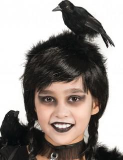 Krähen-Haarreif für Kinder Hexen-Haarreif schwarz