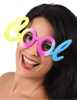 Brille Cool für Erwachsene pastellfarben bunt