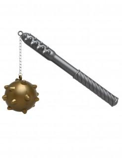 Morgenstern Mittelalter-Waffe Kostümzubehör silber-gold 33cm