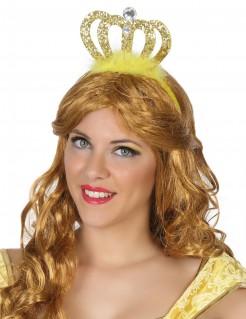 Prinzessinnen-Diadem auf Haarreif gold