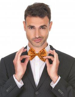 Pailletten-Fliege Clownsaccessoire orange