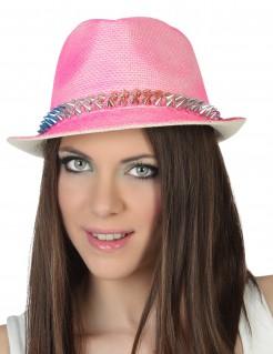 Hut für Damen mit Nieten rosa