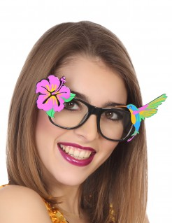 Hawaii-Brille für Erwachsene bunt