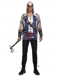 Assassin´s Creed™-Lizenzkostüm Connor-Kostüm blau-grau