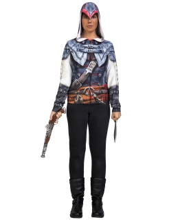 Assassin´s Creed™-Lizenzkostüm für Damen Aveline-Kostüm blau-weiss