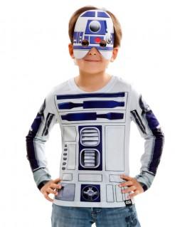 R2-D2-Longsleeve für Kinder Star Wars™-Shirt Lizenzartikel weiss-blau