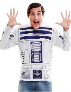 R2-D2-Shirt Star Wars™-Longsleeve Lizenzartikel weiss-blau