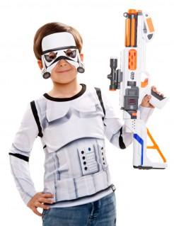 Langärmliges Stormtrooper-Kindershirt Star Wars™-Oberteil für Kinder Lizenzware weiss-schwarz