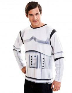 Langärmliges Stormtrooper-Shirt Star Wars™-Oberteil Lizenzartikel weiss-schwarz