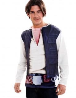Han Solo Longsleeve Star Wars™-Shirt weiss-blau