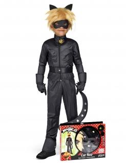 Offizielles Cat Noir™-Kinderkostüm Miraculous-Lizenzkostüm schwarz