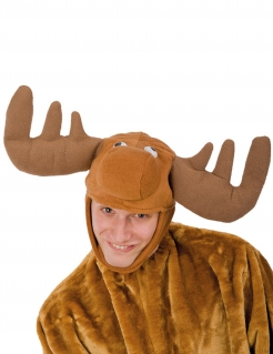 Rentier-Kopfbedeckung Weihnachts-Accessoire braun