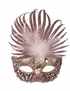Luxuriöse Augenmaske mit Federn für Damen