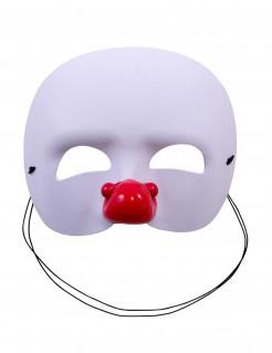 Clown-Halbmaske für Kinder