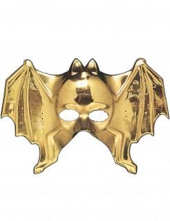 Fledermaus Maske für Erwachsene gold