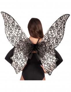 Gothic Schmetterlingsflügel für Damen schwarz
