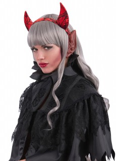 Teufelshörner und Ohren Halloween-Accessoire