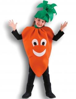 Karotte Kinderkostüm für Mädchen orange-grün