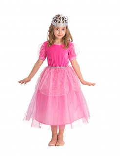 Prinzessin Kostüm für Mädchen rosa-pink