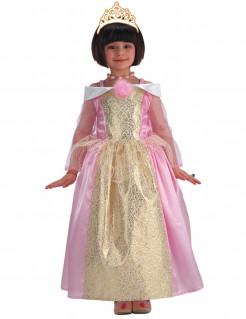 Kleine Prinzessin Kinderkostüm für Mädchen rosa-gold