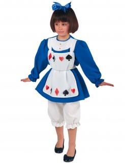 Kleine Karten-Prinzessin Kinderkostüm für Mädchen