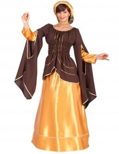 Kostüm Kaiserin für Damen braun-gold