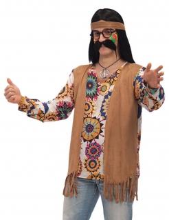 Hippie Herrenkostüm braun