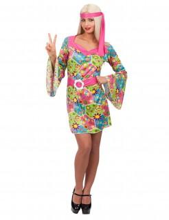 Blumen-Hippie Damenkostüm