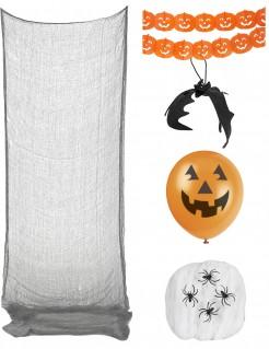 Blutiges Partydeko-Set für die Halloweenparty 6-teilig bunt