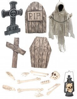 Friedhofs-Set deluxe - Halloween-Dekoration