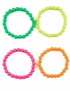 Perlen-Armbänder 4 Stück bunt
