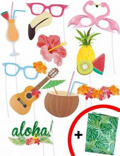 Hawaiisticker-Set mit Glanzpapier 11-teilig bunt