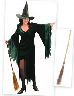 Zauberhafte Hexe Kostümset 3-teilig grün-schwarz
