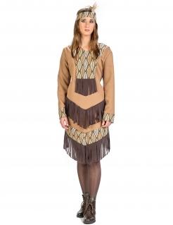 Kostüm Indianerin mit Blättern für Damen