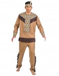 Kostüm Indianer mit Blättern für Herren