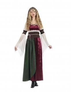 Mittelalter-Prinzessinkostüm für Damen bunt