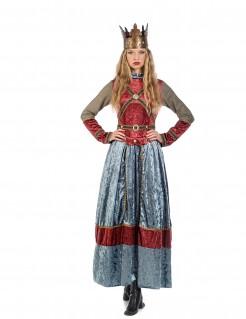 Premium Kostüm mittelalterliche Königin für Damen
