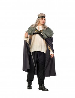 Mittelalterliches Cape Krieger-Umhang für Herren grau