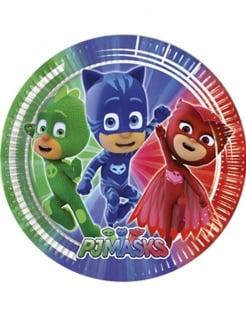 PJ Masks™-Teller Kinderparty-Tischdeko 8 Stück grün-blau-rot 23cm