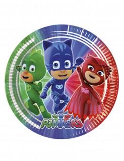 PJ Masks™-Teller Kinderparty-Tischdeko 8 Stück grün-blau-rot 20cm