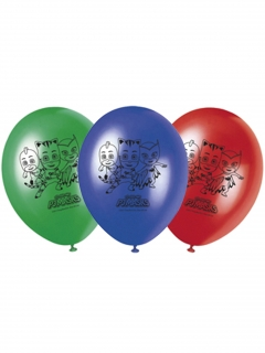 PJ Masks™-Luftballons Kindergeburtstag-Deko 8 Stück blau-rot-grün 30cm