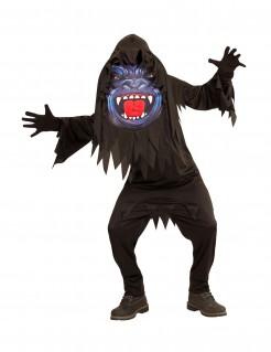 Gorilla mit Riesen-Kopf Halloween-Teenkostüm