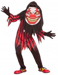 Horrorclown mit Riesen-Kopf Halloween-Teenkostüm