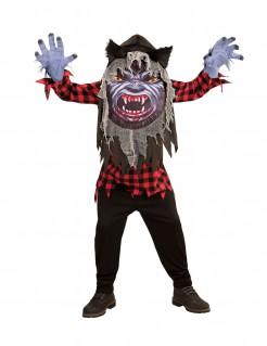 Werwolf mit Riesen-Kopf Halloween-Teenkostüm