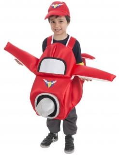 Flugzeug-Verkleidung für Kinder Karneval rot-weiss