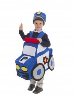 Polizeiauto-Kostüm für Kinder Faschingskostüm blau-weiss
