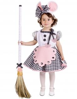 Maus-Kostüm für Kleinkinder Karneval rosa-weiss-schwarz