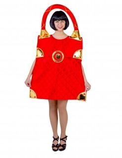 Handtaschen-Kostüm für Damen rot-goldfarben