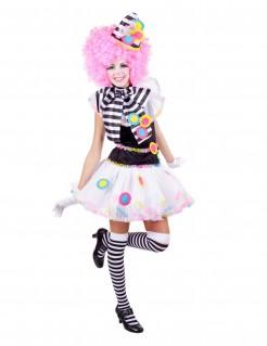 Clownskostüm für Damen Faschingskostüm bunt