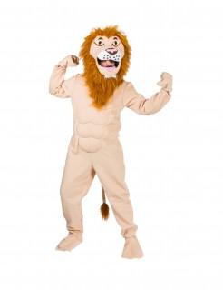 Muskulöses Löwen-Kostüm Maskottchen-Kostüm braun